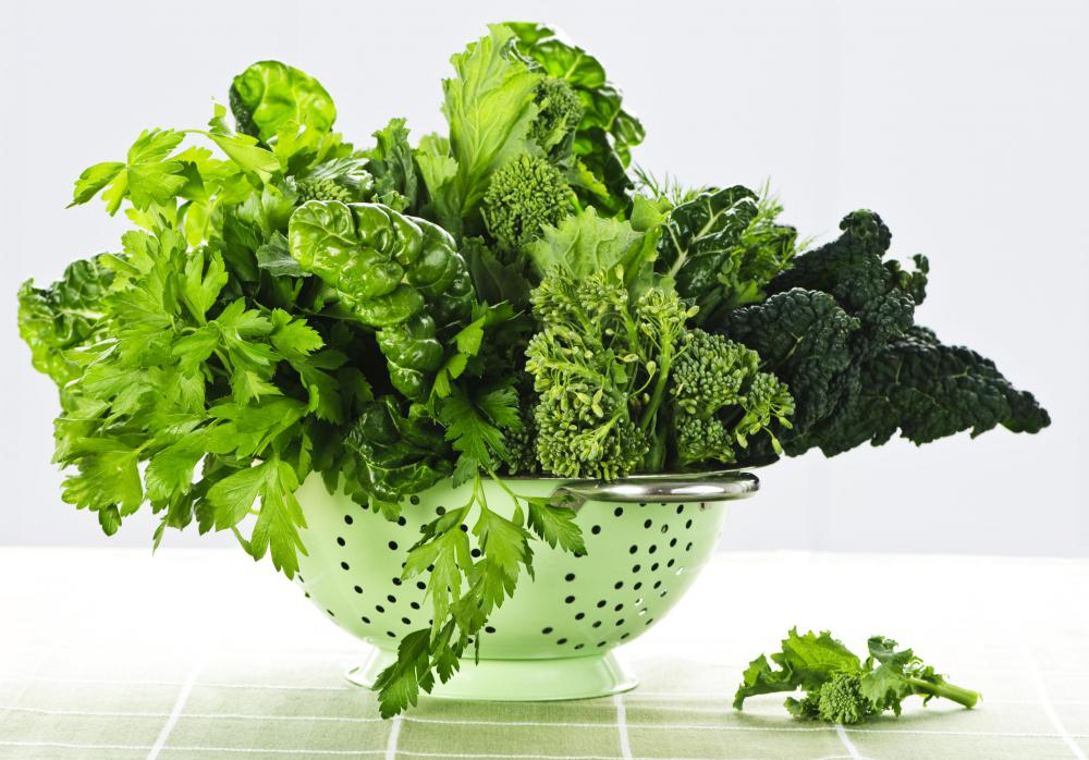 Leafy vegetables are high in d-pinitol.