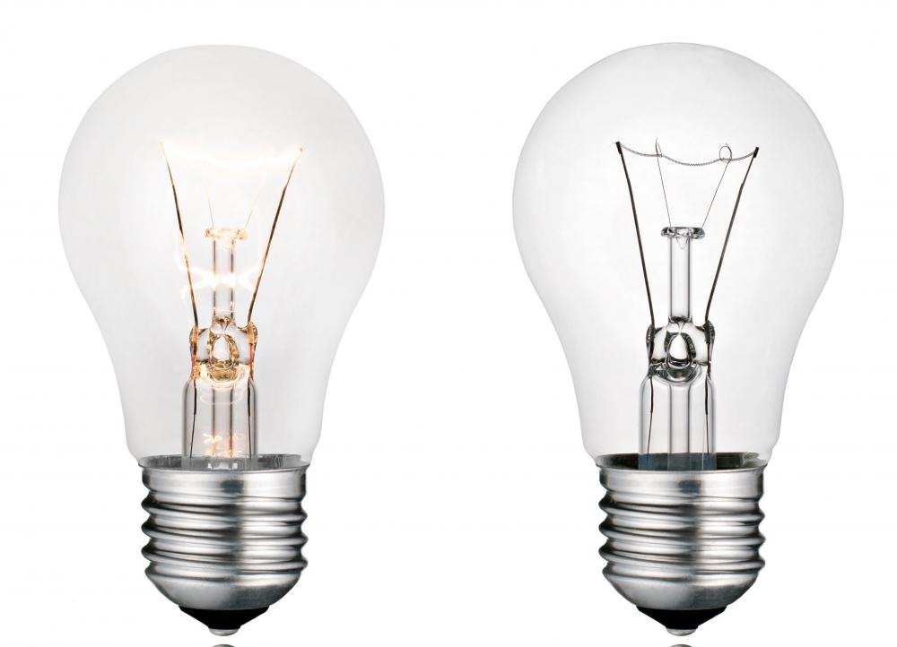 Incandescent light bulbs.