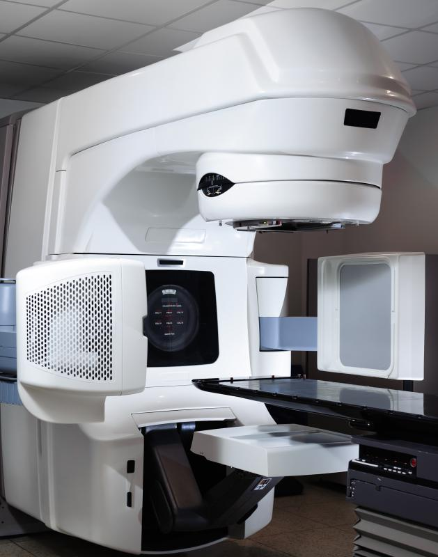 A linear accelerator might be used to target cancerous bladder lesions with radiation.