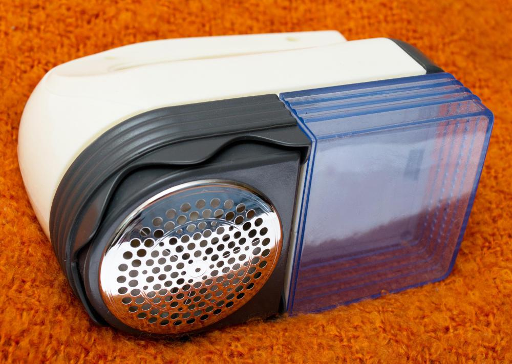 A fabric shaver is a handheld tool used to remove pilling from clothing.