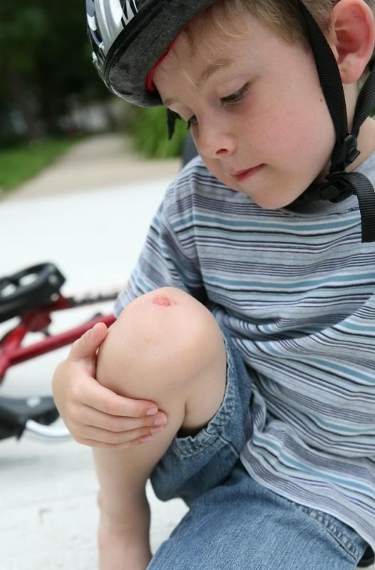 Wearing a helmet may help protect a child from sustaining serious injuries while learning to ride a bike.