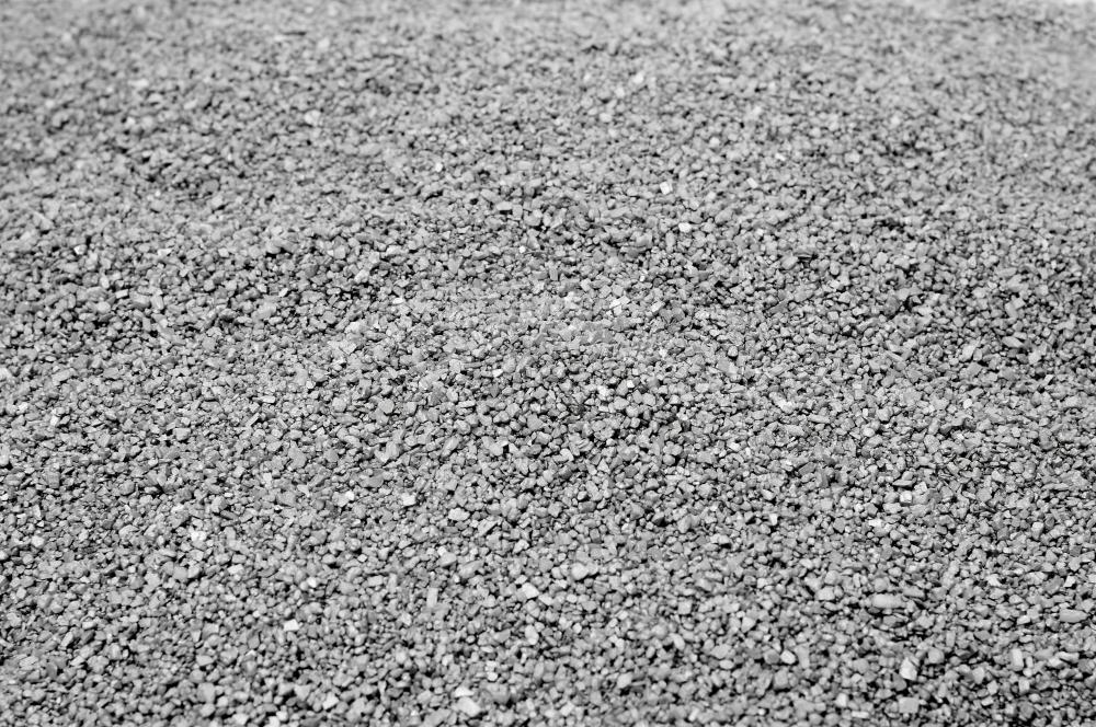 A thin layer of gravel is often used to lay interlocking brick pavers.