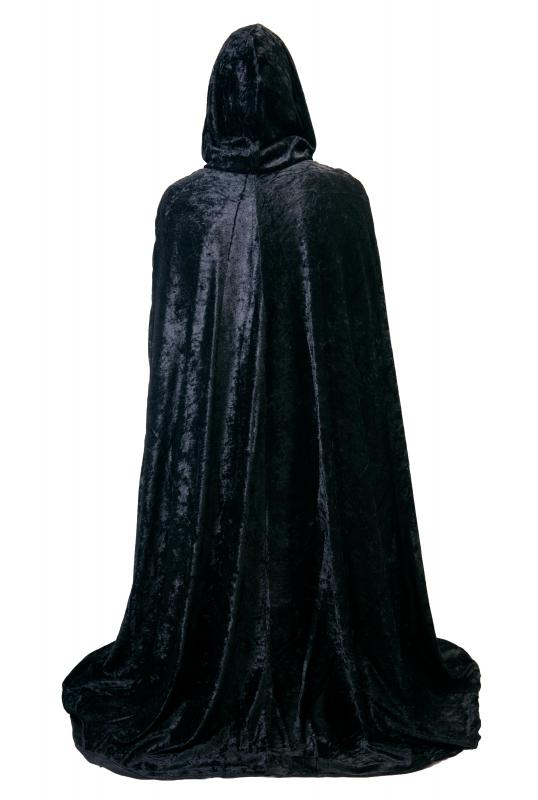 The grim reaper is typically depicted as a figure wearing a black hooded cloak.