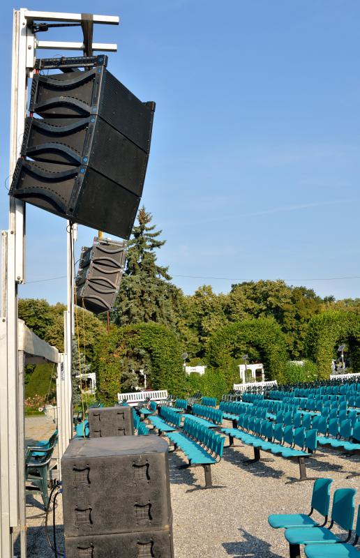 Amphitheaters often have DMX dimmers that are used for nighttime shows.