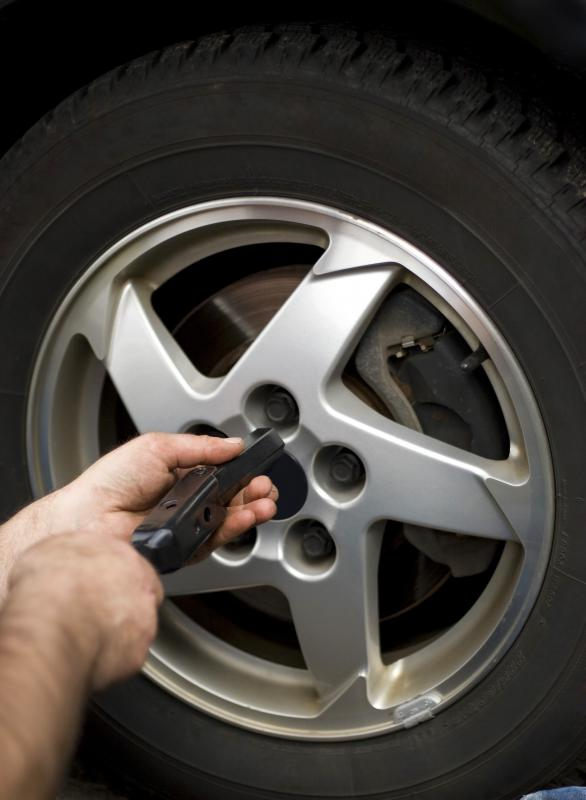 A full service gas station may check air pressure in tires.