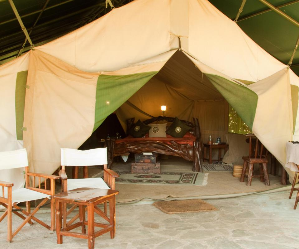 Full beds and spacious tents are part of luxury camping.