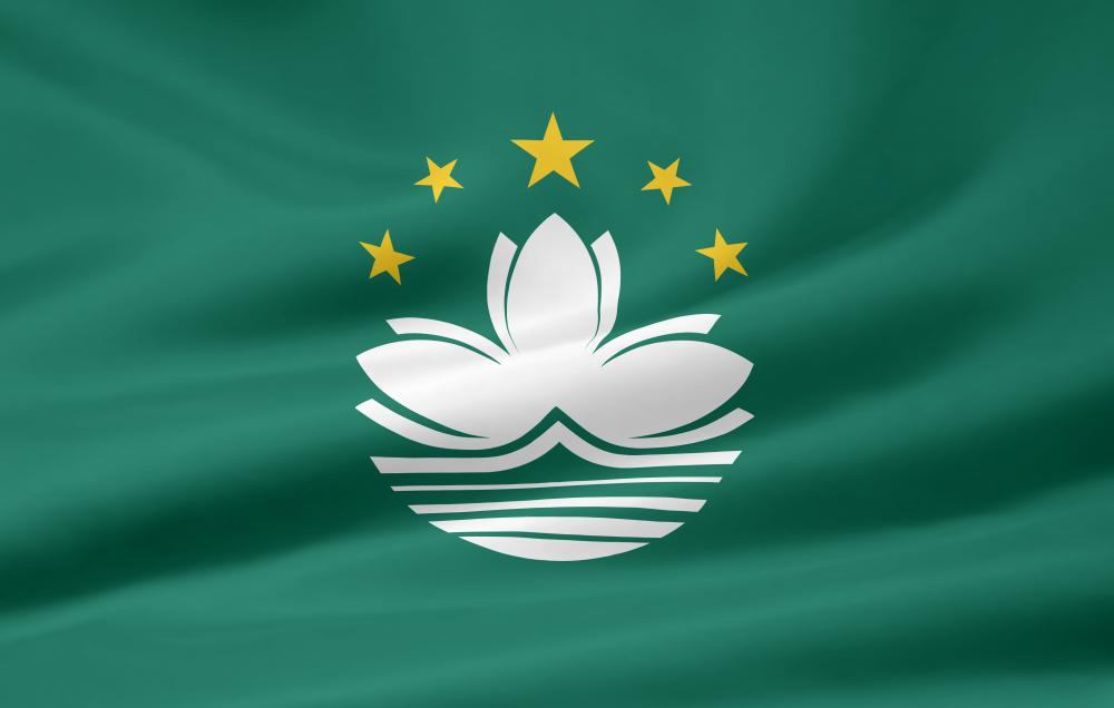The flag of Macau, a Special Administrative Region of China that has a multi-party government.
