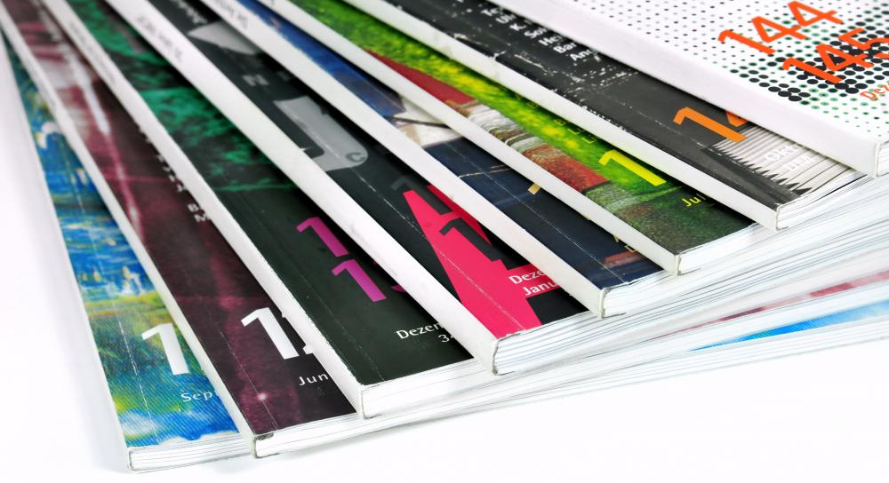 Most glossy magazines display ads that reflect the theme of their publication.