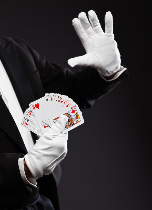Some illusionists perform card tricks.