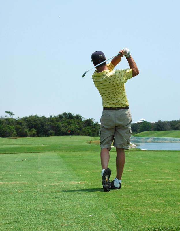 Having good body balance is essential in the game of golf.