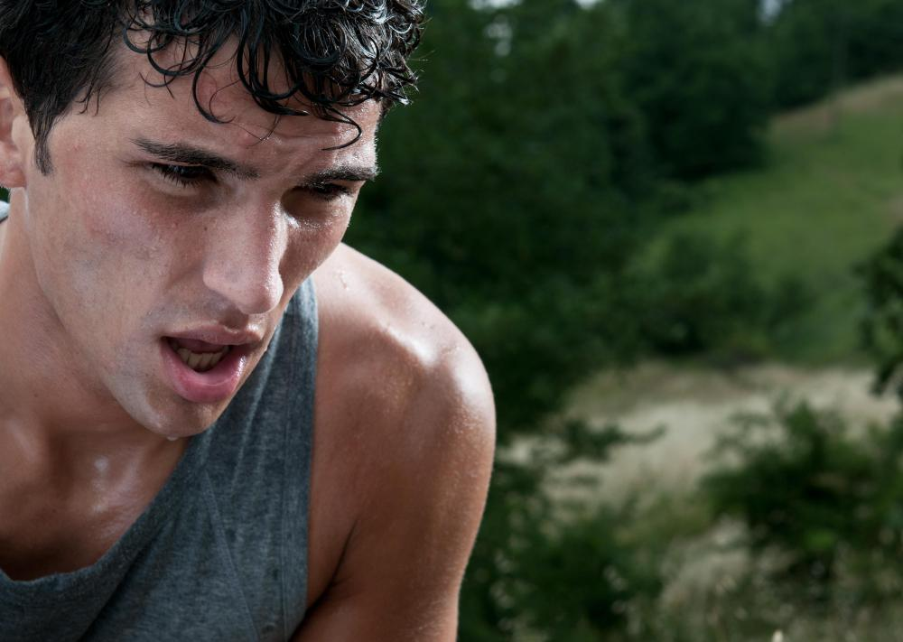 Excessive sweating may cause dehydration.