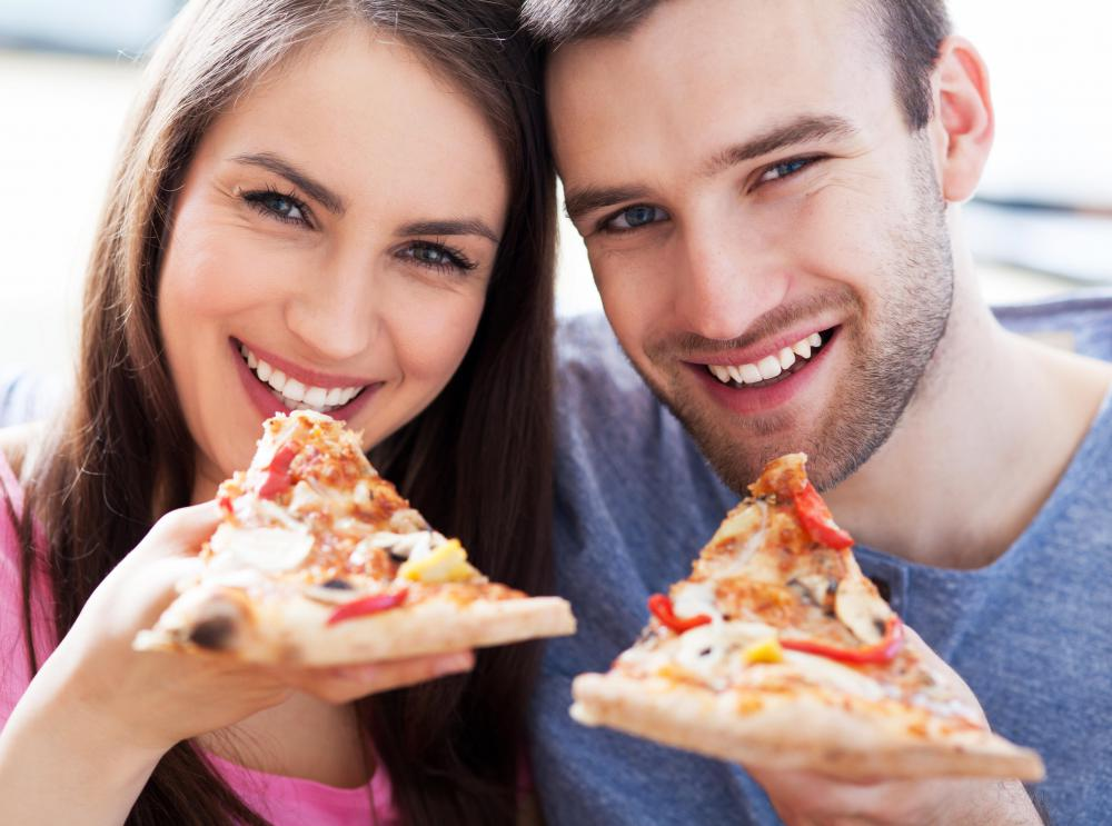 Guests at an open house party might enjoy a slice of pizza.