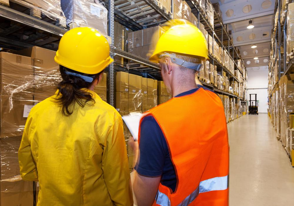 Most factory workers unload, sort, assemble and package goods.