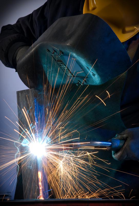 Arc welding may be performed as part of a preventive maintenance plan in an industrial setting.