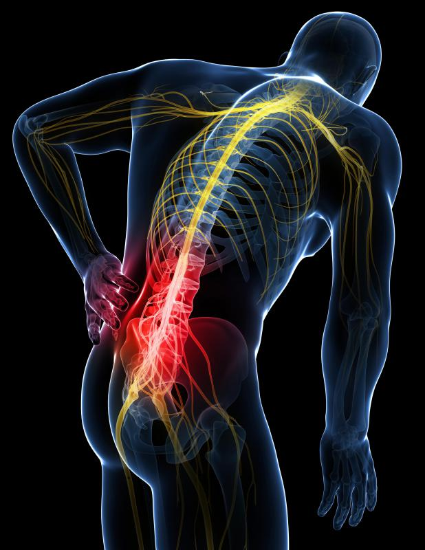 Injections can determine if the source of pain is coming from the SI joint, which is located at the base of the spine.
