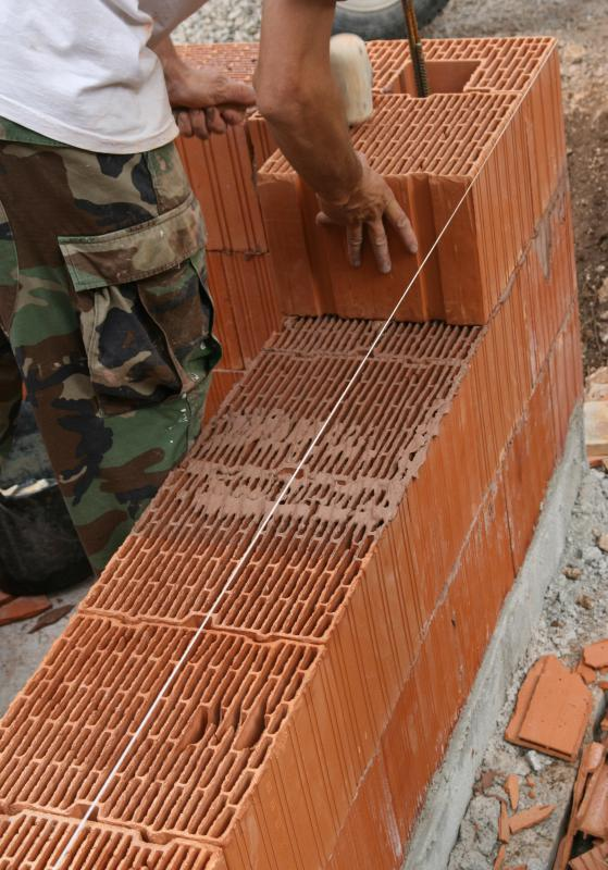 Brick glue may be used to build entire walls.