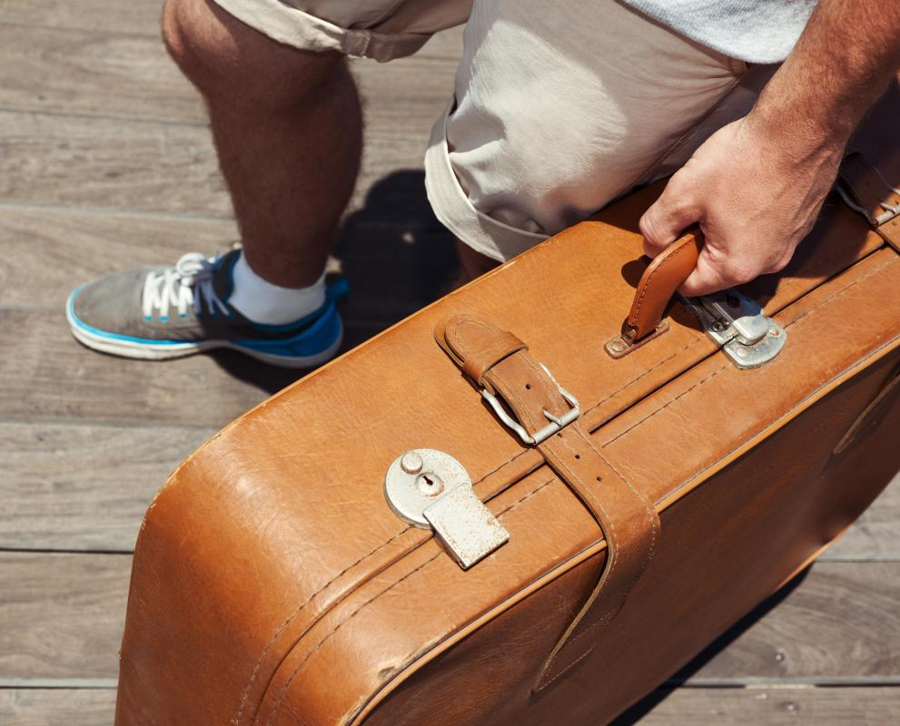 Aluminum luggage can be a more lightweight alternative to heavier, leather bound bags.