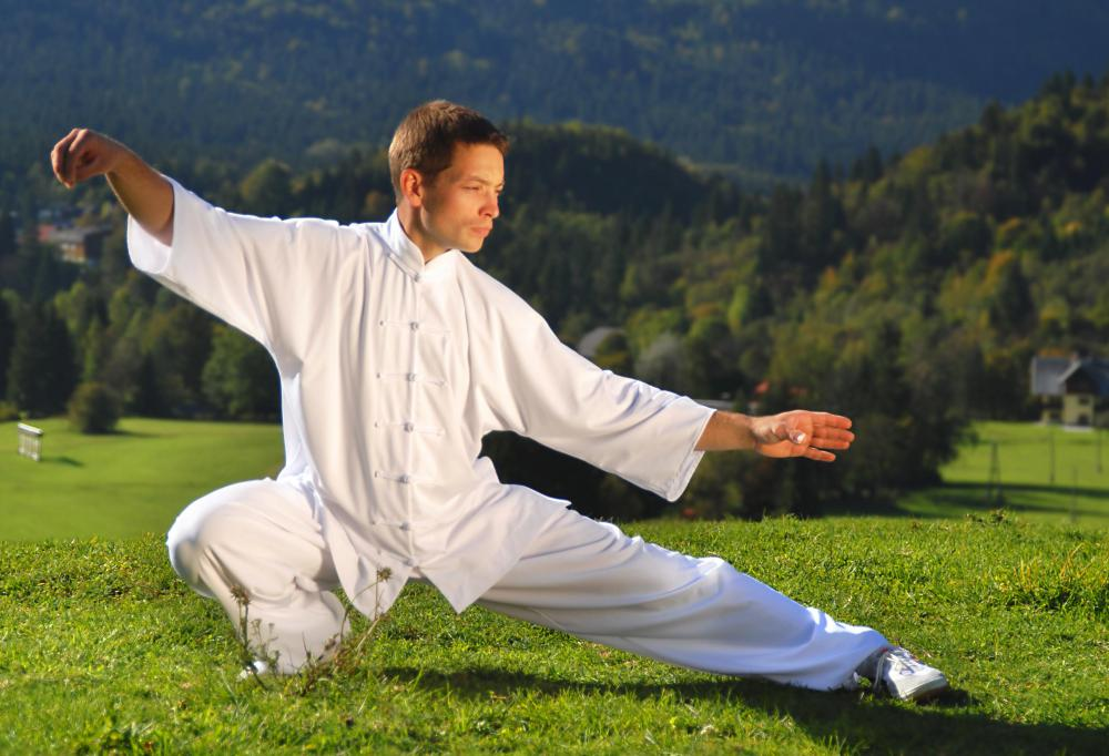 Tai Chi combines breathing exercises with movement and meditation.