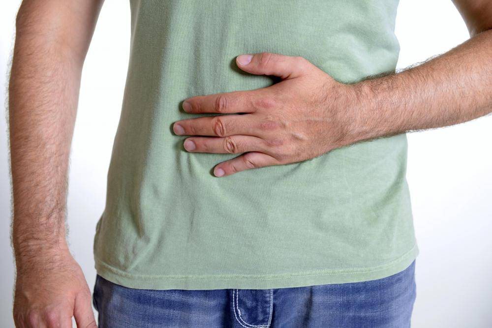 Abdominal pain may be a symptom of colitis.