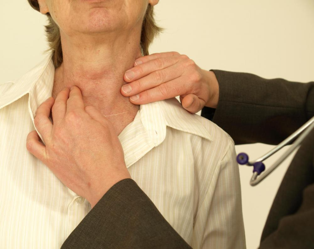 Thyroid lesions are often only noticed by doctors.