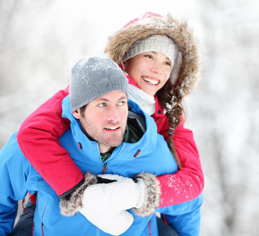 Thermal underwear is popular during outdoor winter activities.