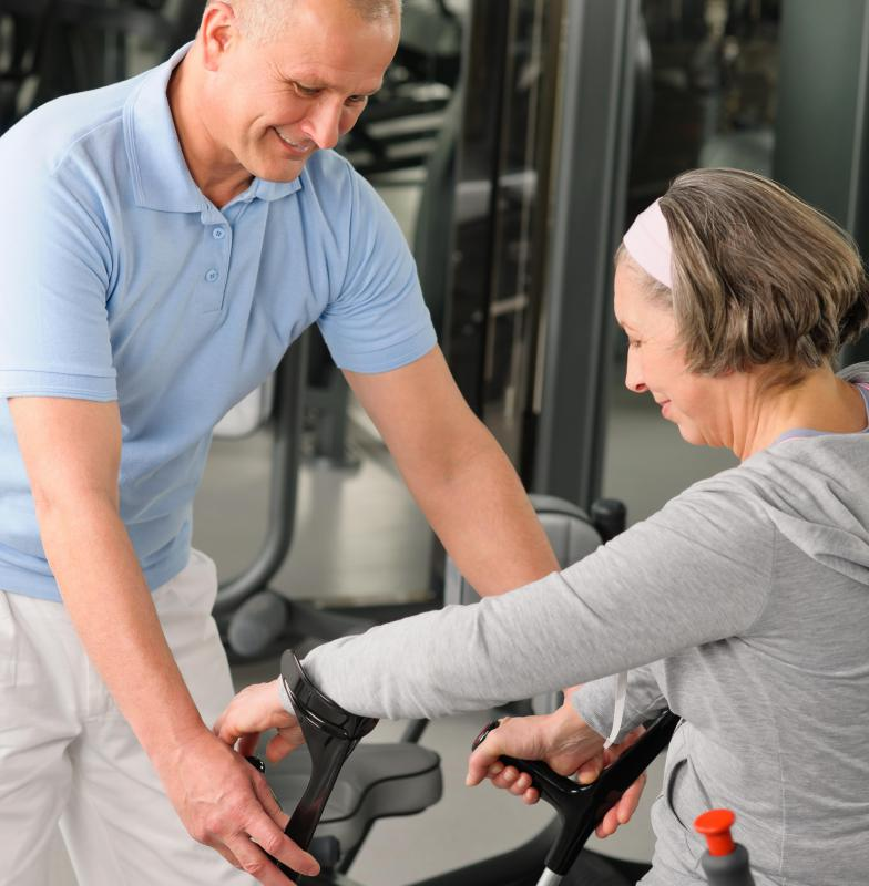 Isometric exercises are often easiest for seniors.