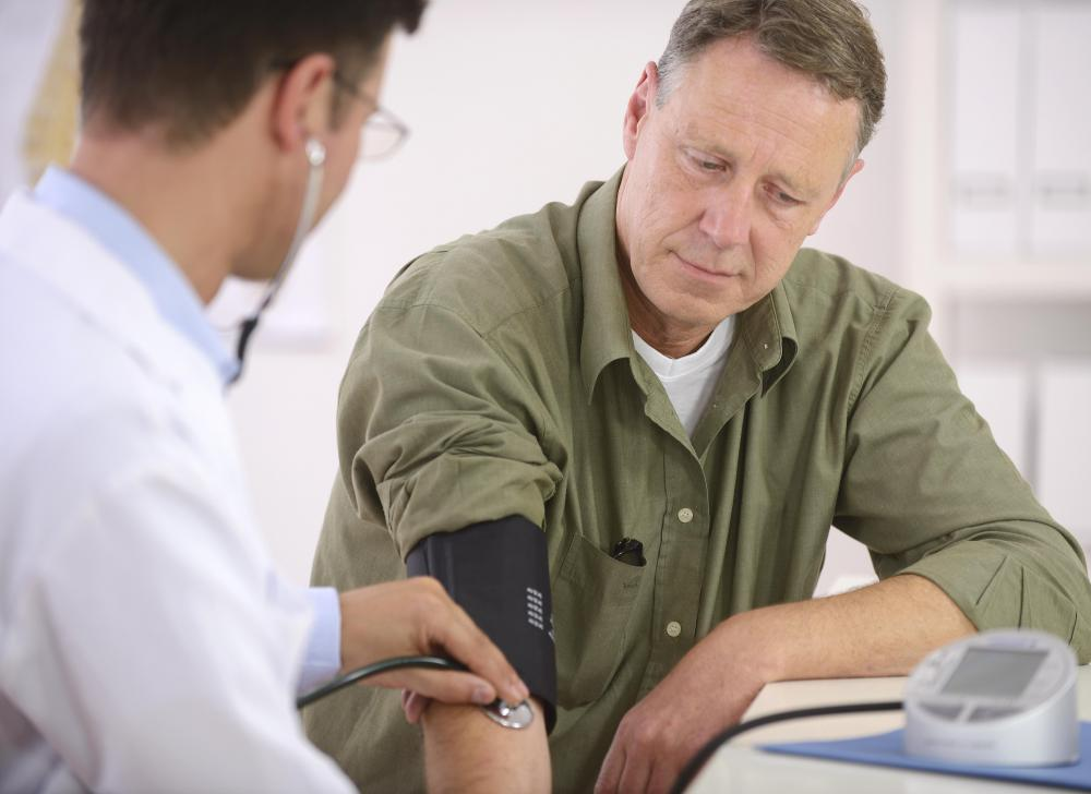 Low blood pressure may cause reversible ischemia.