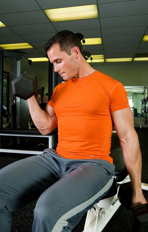 Dumbbell curls are an effective way to build stronger biceps.