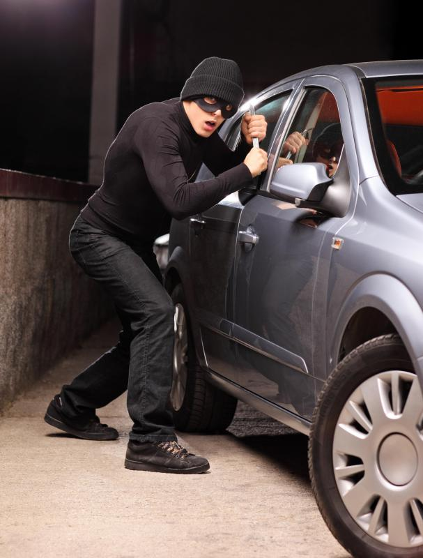 Someone who buys a new car risks theft or vandalism.