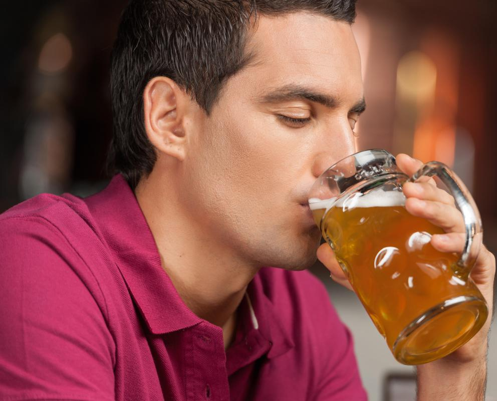 Heavy alcohol drinking may cause abnormally low red blood cell levels.