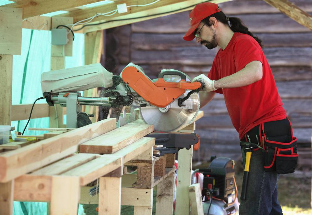 Table saws typically feature a circular saw blade.
