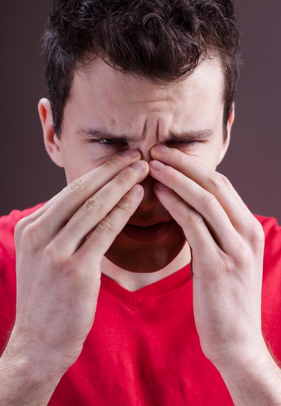 A sinus infection can cause lymphatic swelling.