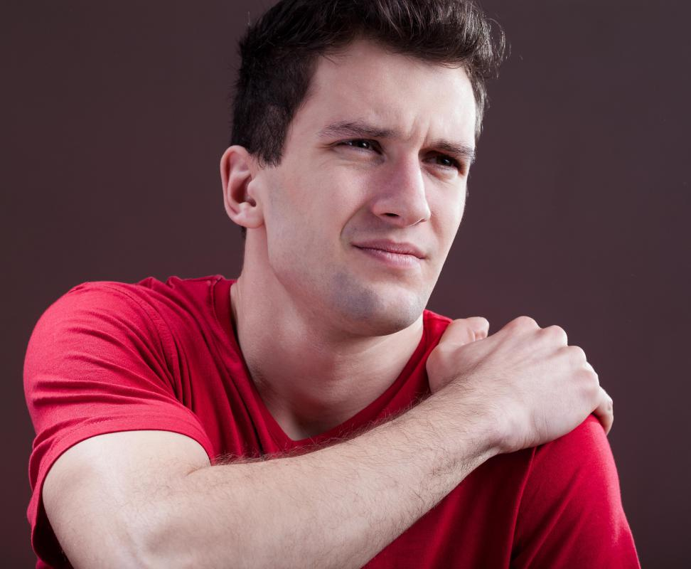 A shoulder with pain and restricted movement may require a bursectomy.