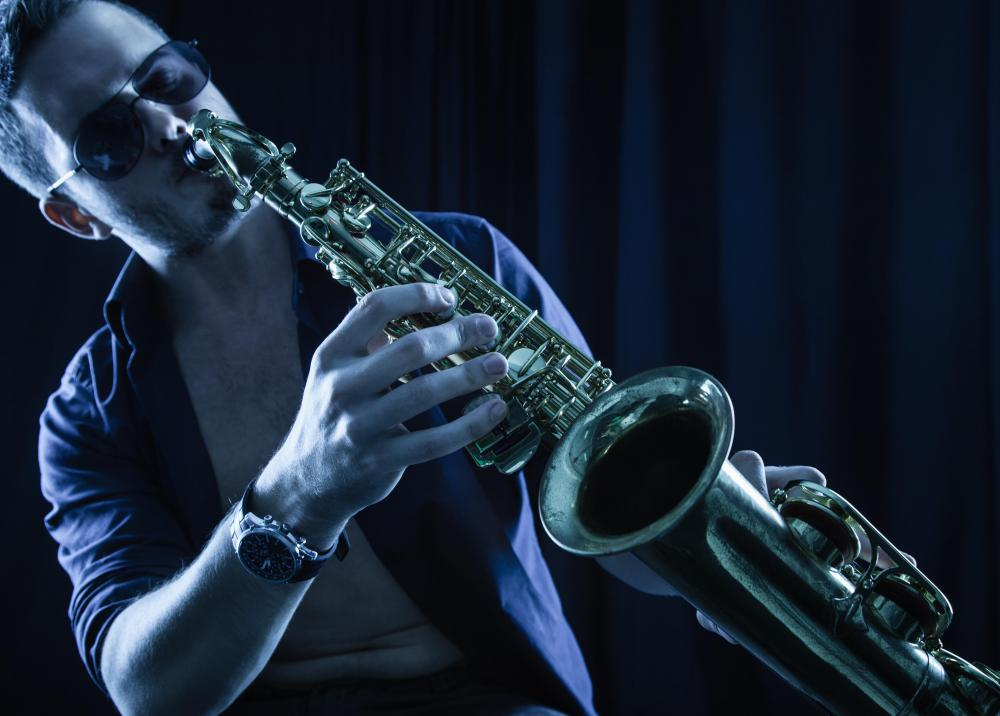 The saxophone is commonly used in bebop music.