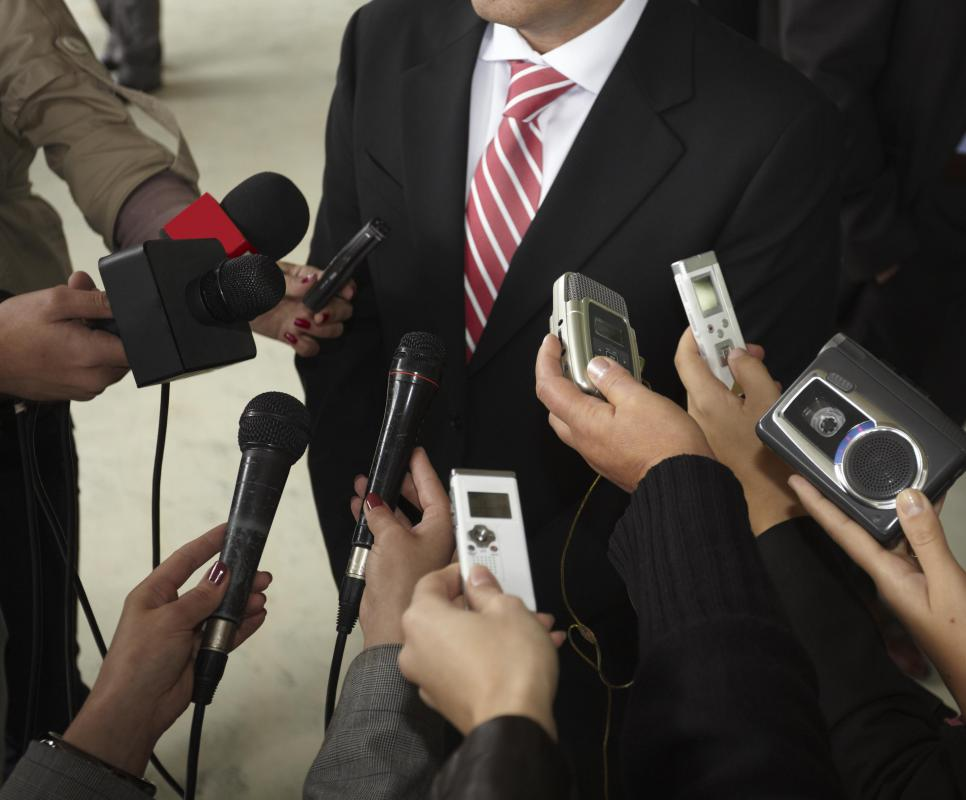 Publicists work in organizational communication when they arrange events like news conferences.