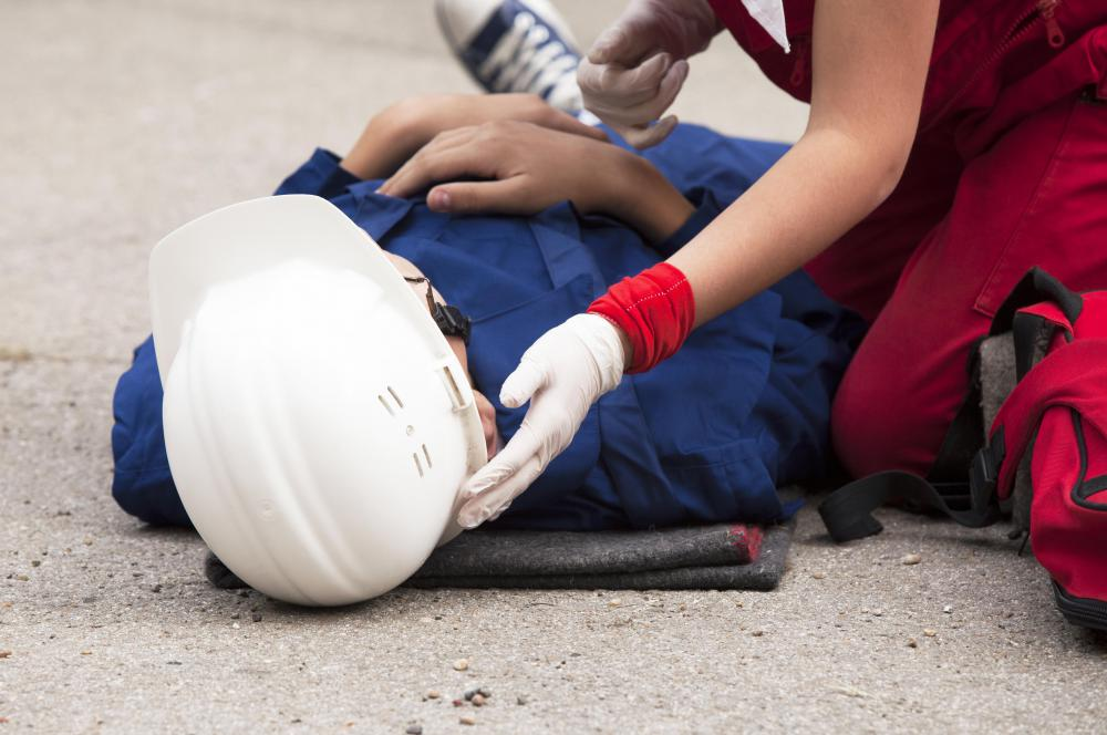 Work zones may have an AED to treat injured employees.
