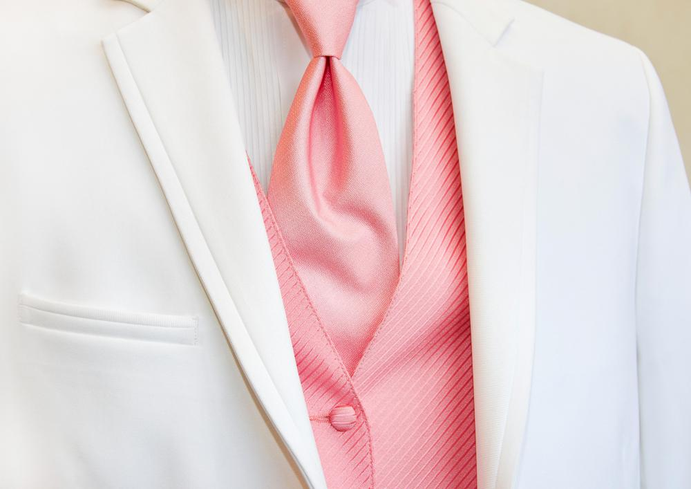 Pink is sometimes used as a color for men's dress shirts and suits.