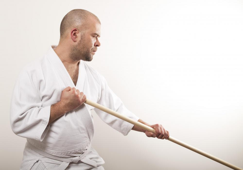 Hakama are worn in several martial arts practices, including aikido.