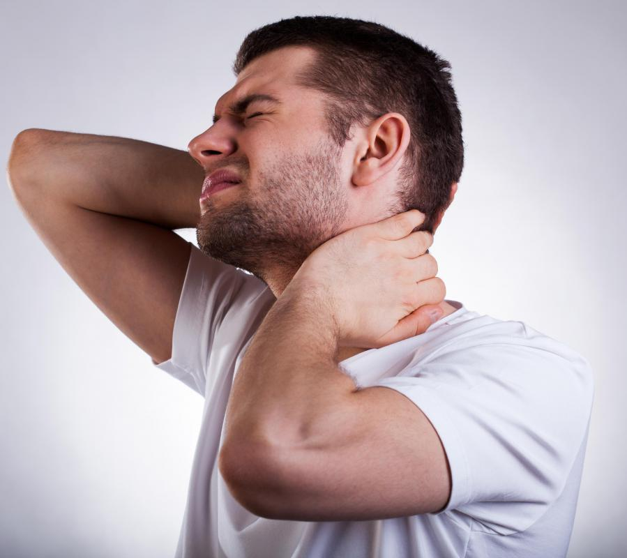 Injury to the spinal cord can cause severe neck pain.