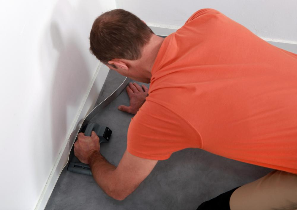 When installing a carpet, there are three types of tape that can be used: Double-sided for keeping it in place, single-sided for binding raw edges, and single-sided for attaching individual pieces of carpeting to each other.