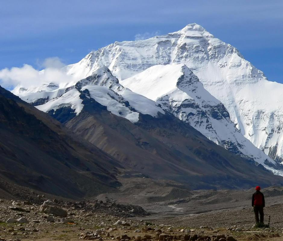 The local Sherpa population has provided most of the guides for expeditions to the summit of Mount Everest.