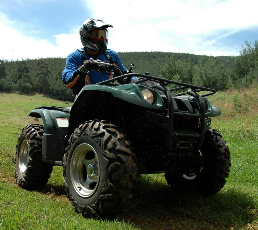 ATVs are off-road vehicles used as recreational vehicles, racers, or transport over rough terrain.