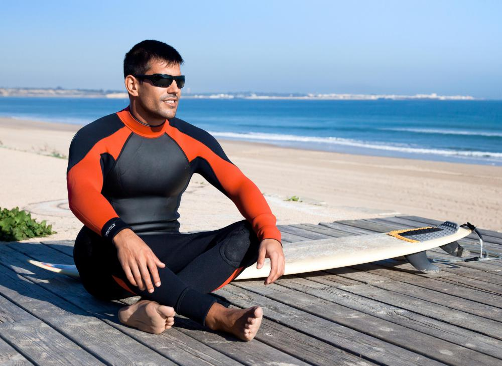 Neoprene is commonly used to make wetsuits.