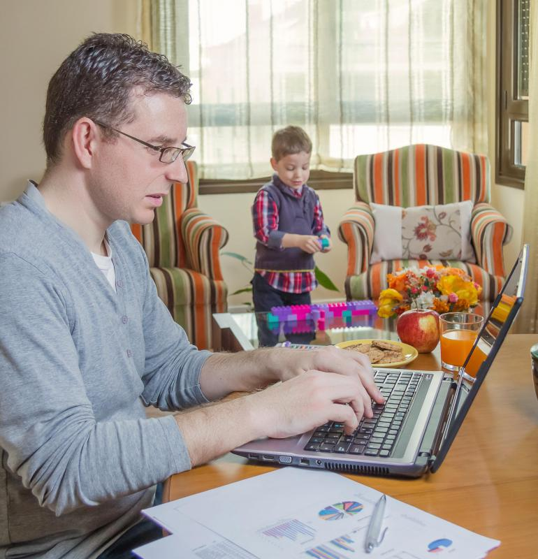 Full- or part-time telework is often part of a work-life balance program.