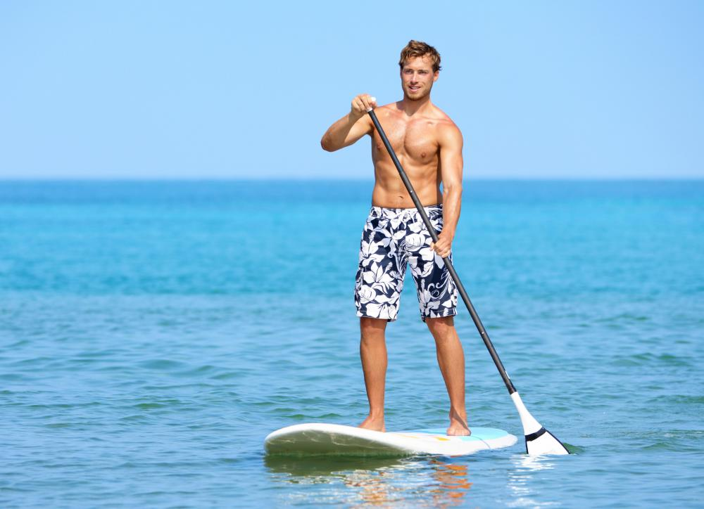 Standup paddleboarding is a type of stability training, as the paddler must balance on an unstable surface.