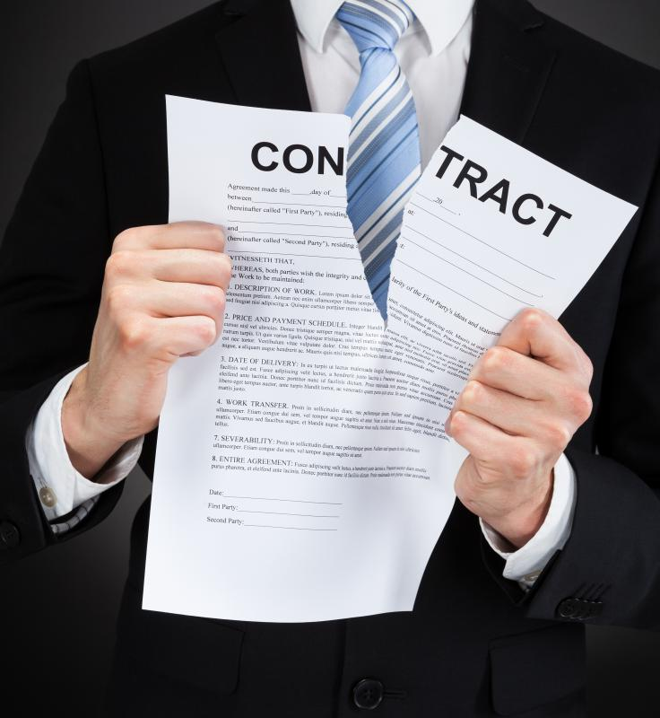 A breach of contract means that one of the parties ignored one or more terms in the agreement.