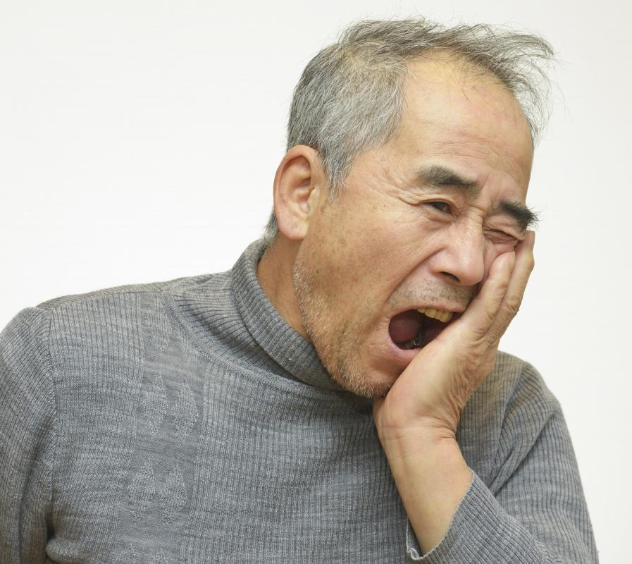A tooth infection may cause substantial pain.
