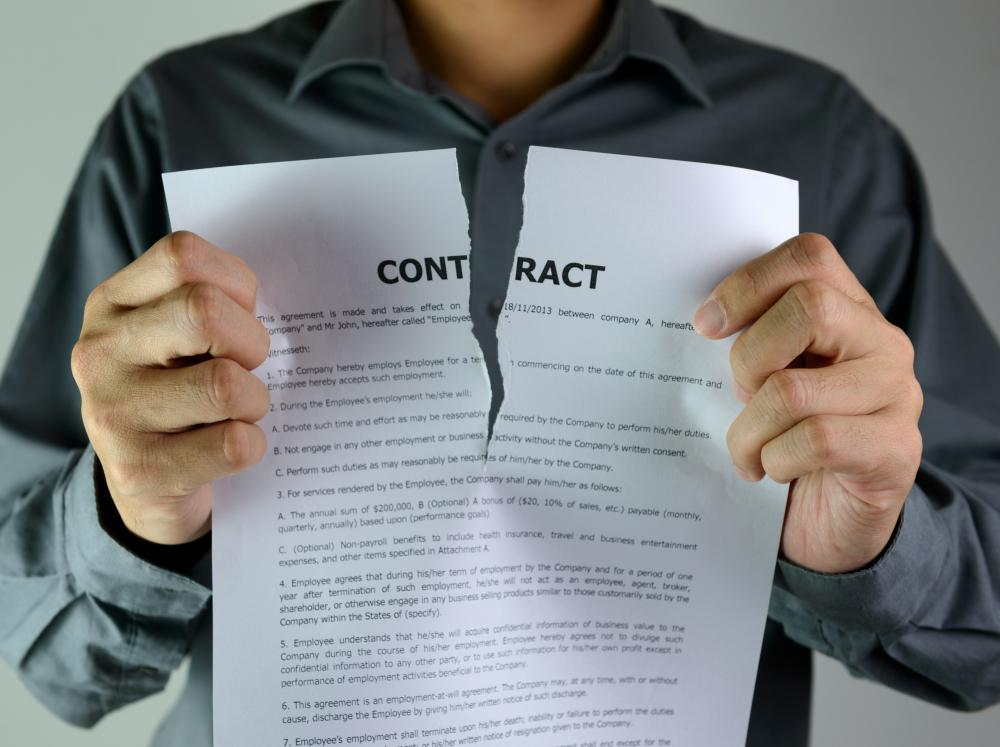 A contract may stipulate that parties must abide by certain terms in order for a contract to be valid.
