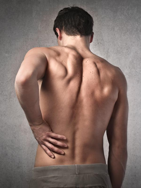 Bath salts may help ease back pain.
