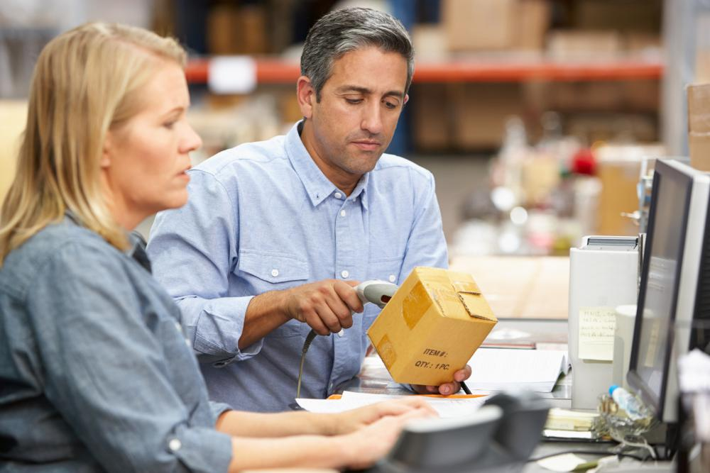 An automated system may be used to track inventory and produce purchase orders automatically when necessary.